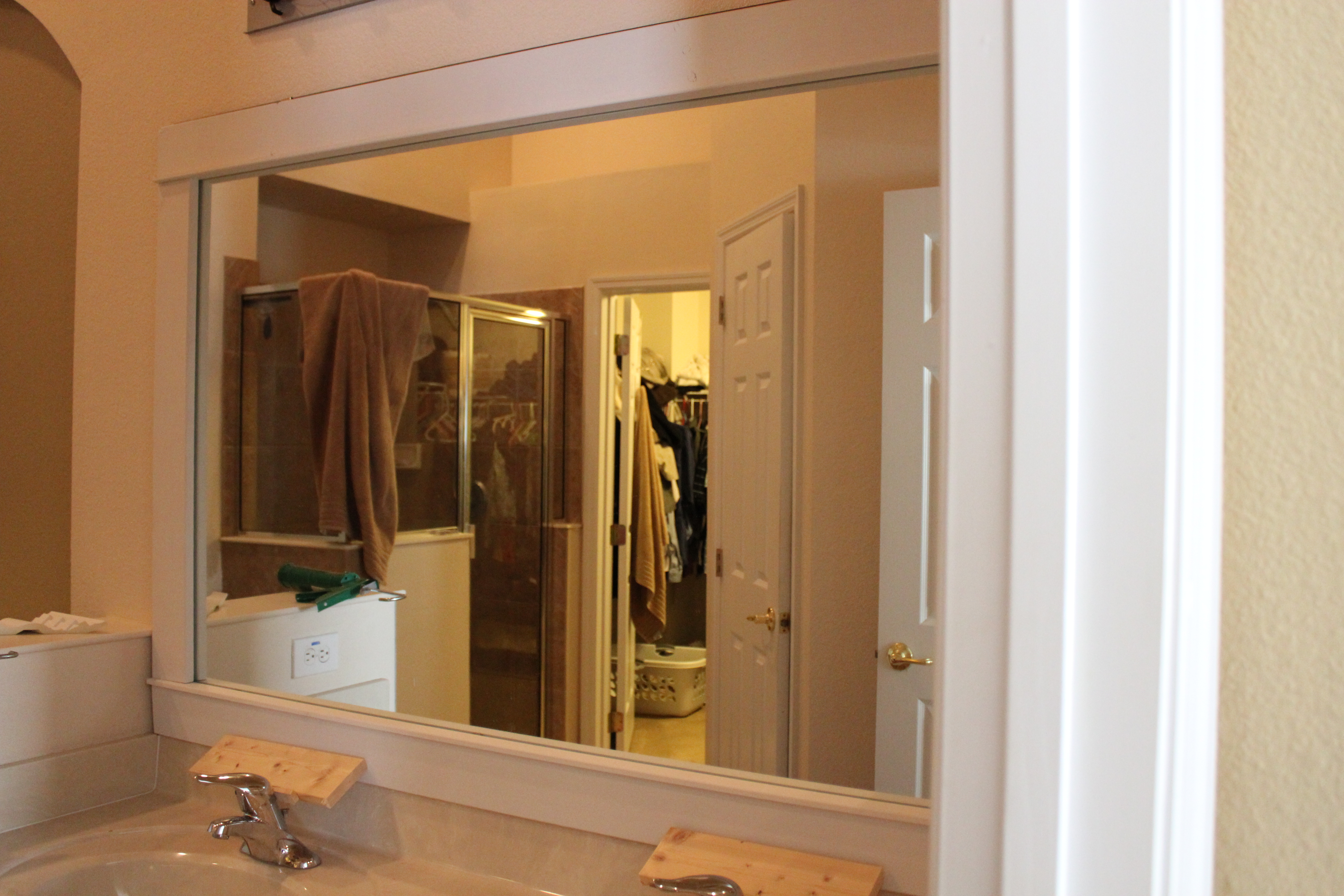 diy framed mirror the gilbertson family crown m