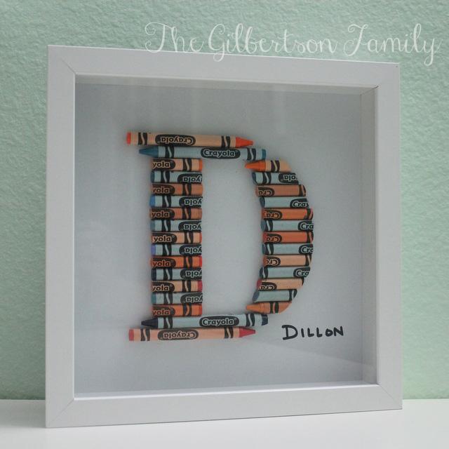 diy crayon letter